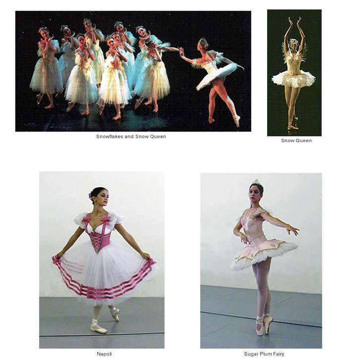 Costumes for The Nutcracker and Napoli