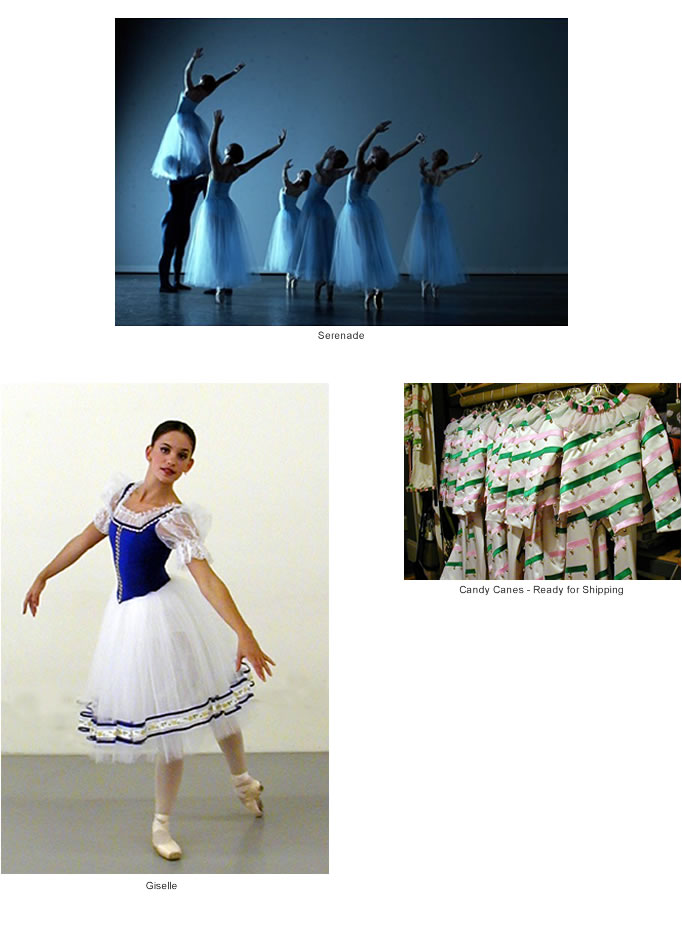 Costumes for Giselle and The Nutcracker